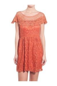 rochie-cu-volan-din-macrame-portocaliu